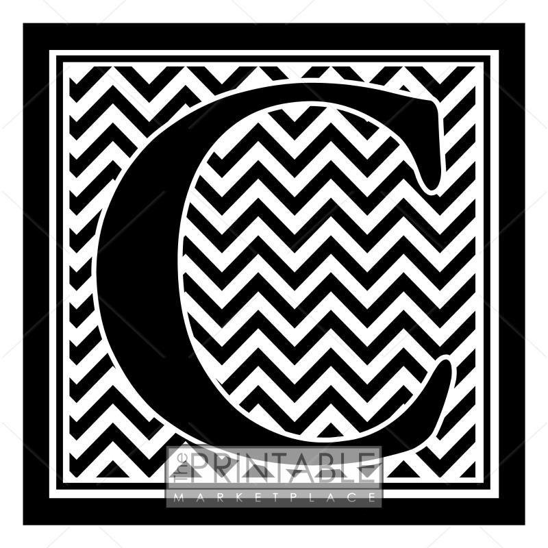 c initial chevron wallpaper - photo #17