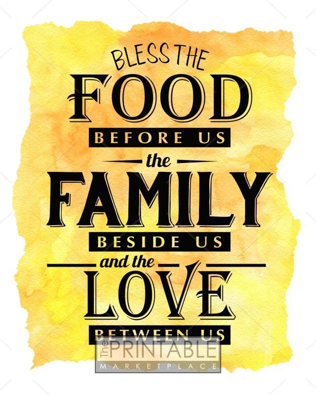photo relating to Bless the Food Before Us Printable identify Bless The Foods