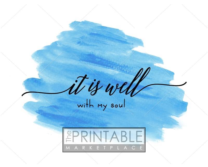graphic relating to It is Well With My Soul Printable named It Is Very well With My Soul