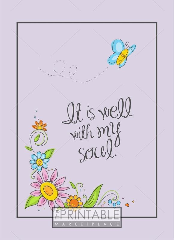 image about It is Well With My Soul Printable called It Is Very well With My Soul
