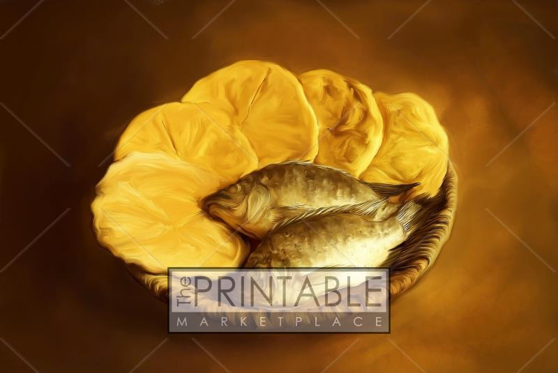 photo relating to Printable Loaves and Fishes identified as Loaves and Fishes